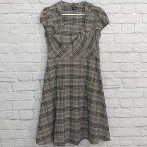TVZ | Plaid Madmen Style Dress Cap Sleeve